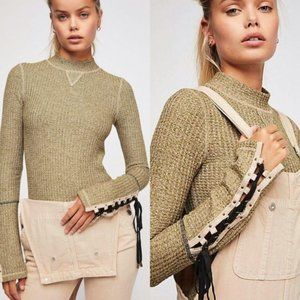 Free People Mountaineer Cuff Mock Neck Thermal